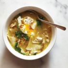 Chicken Soup with Poached Eggs Recipe