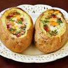 Idaho Sunrise (Baked Eggs & Bacon In Potato Bowls)