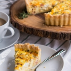 Pancetta, Shallot, and Cheese Deep Dish Quiche