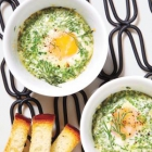 Baked Eggs With Parmesan and Herbs