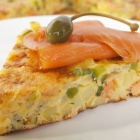 Smoked Salmon and Leek Frittata