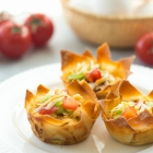 Mini Mexican Wonton Quiche