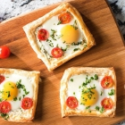 Puff Pasty Galettes With Eggs
