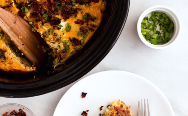 Slow Cooker Bacon, Egg & Hashbrown Casserole