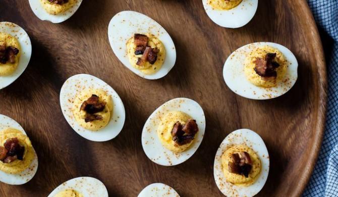Butternut Squash & Bacon Deviled Eggs