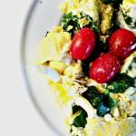 Egg Spinach and Tomato Scramble Recipe