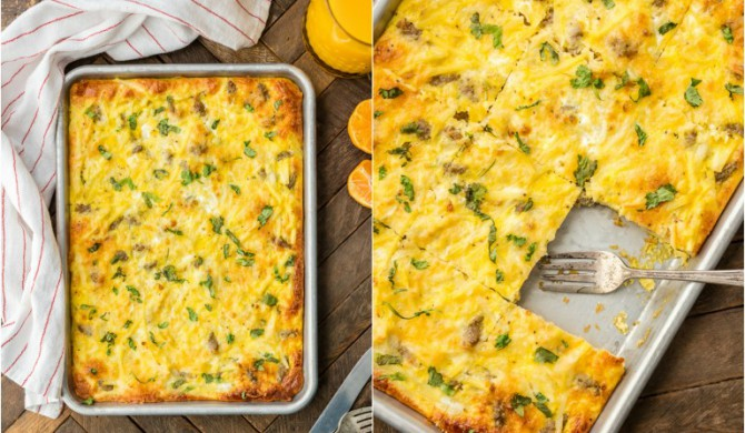 Easy Sheet Pan Breakfast Pizza