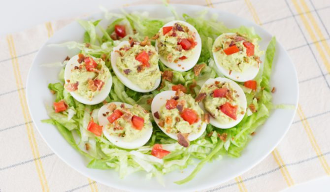 Avocado BLT Deviled Eggs