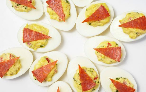 Pepperoni Pizza Deviled Eggs
